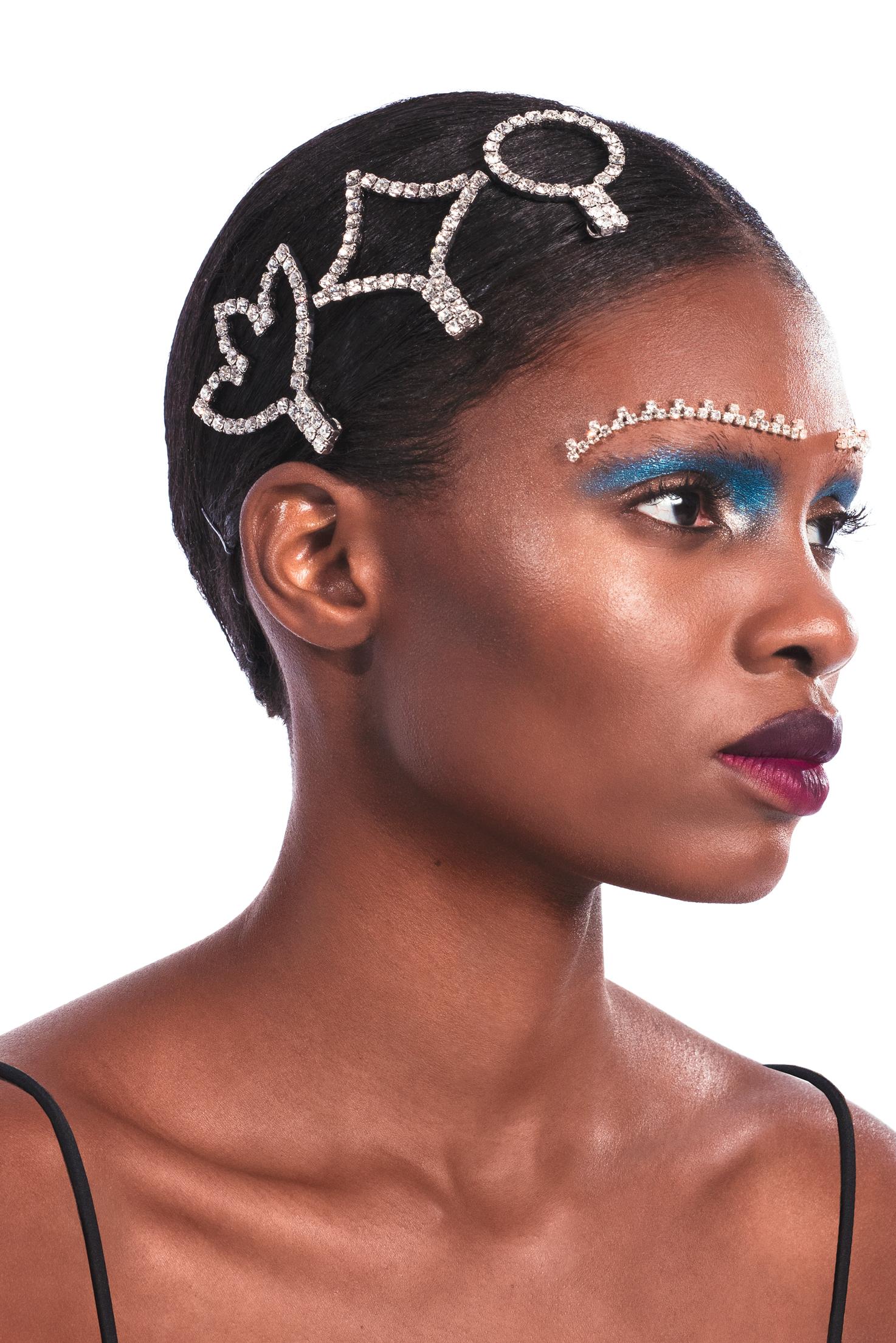 Crystal Hair Clip Set