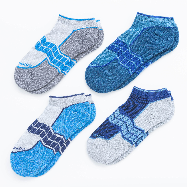 Women's 4 Pack Half Cushion No-Show Socks