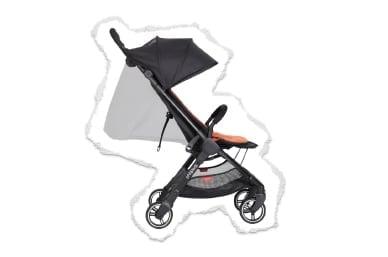 asiento de tela plana para un pequeño recién nacido o vertical para un niño alto.
