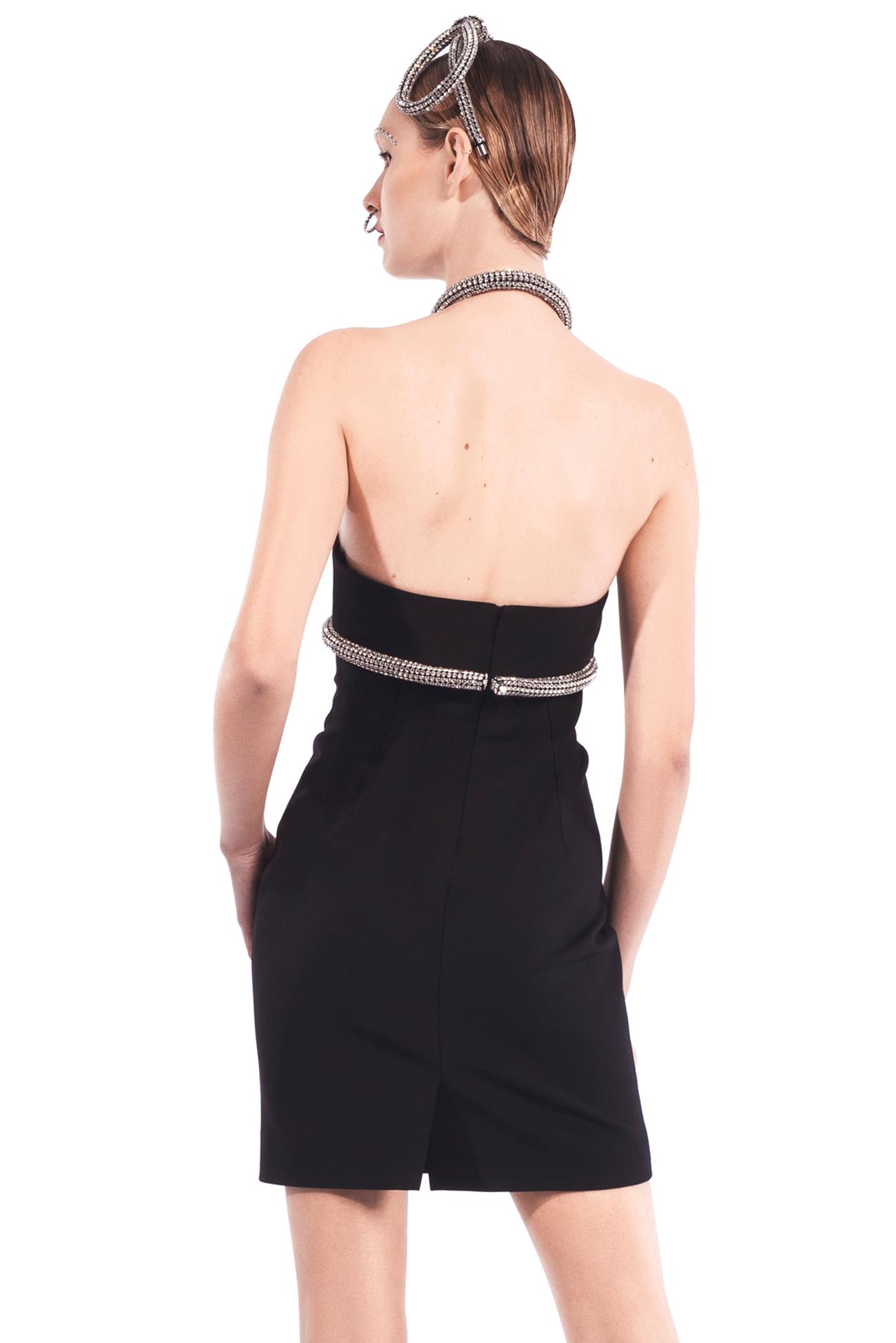 Crystal Rope Halter Dress