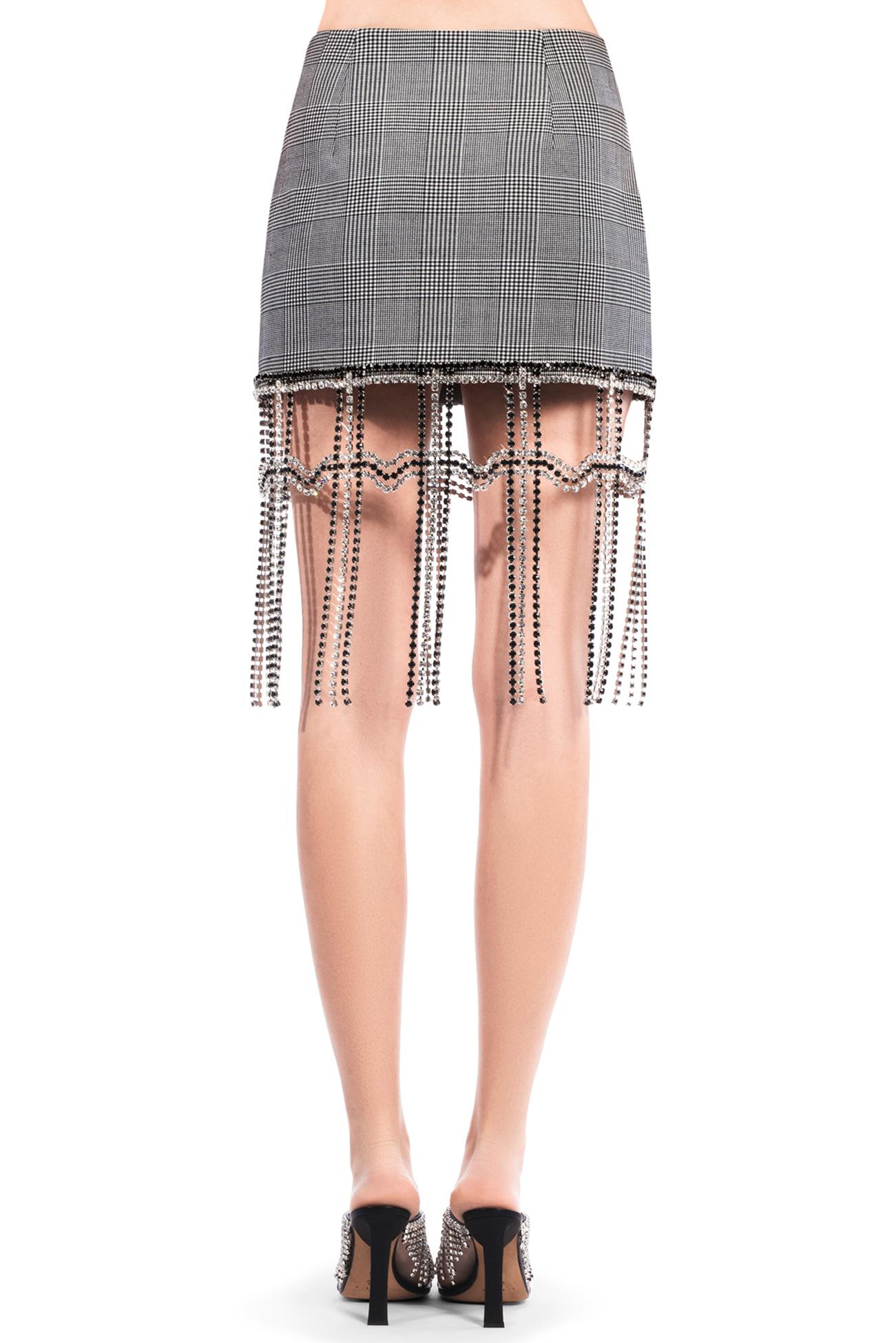 Crystal Plaid Mini Skirt