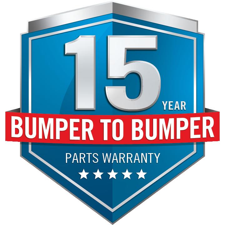 Napoleon 15 Year Bumper to Bumper Warranty
