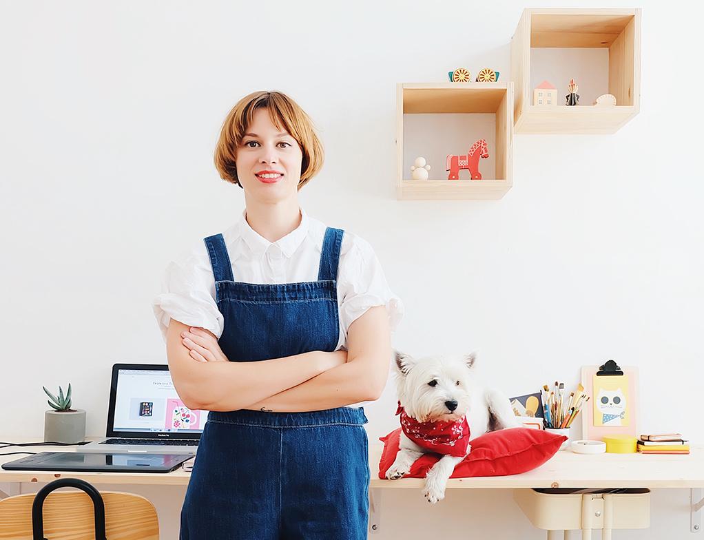 2019, Ekaterina Trukhan in her studio.