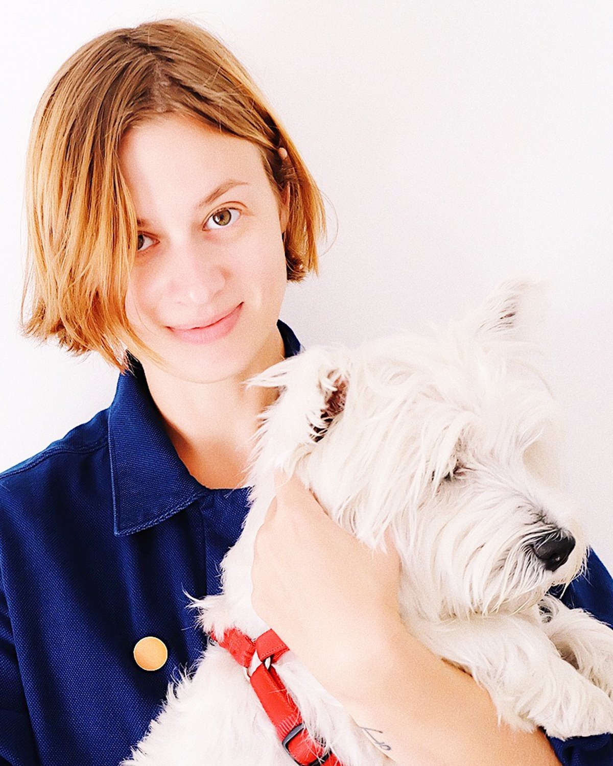 2019, Ekaterina and her dog.