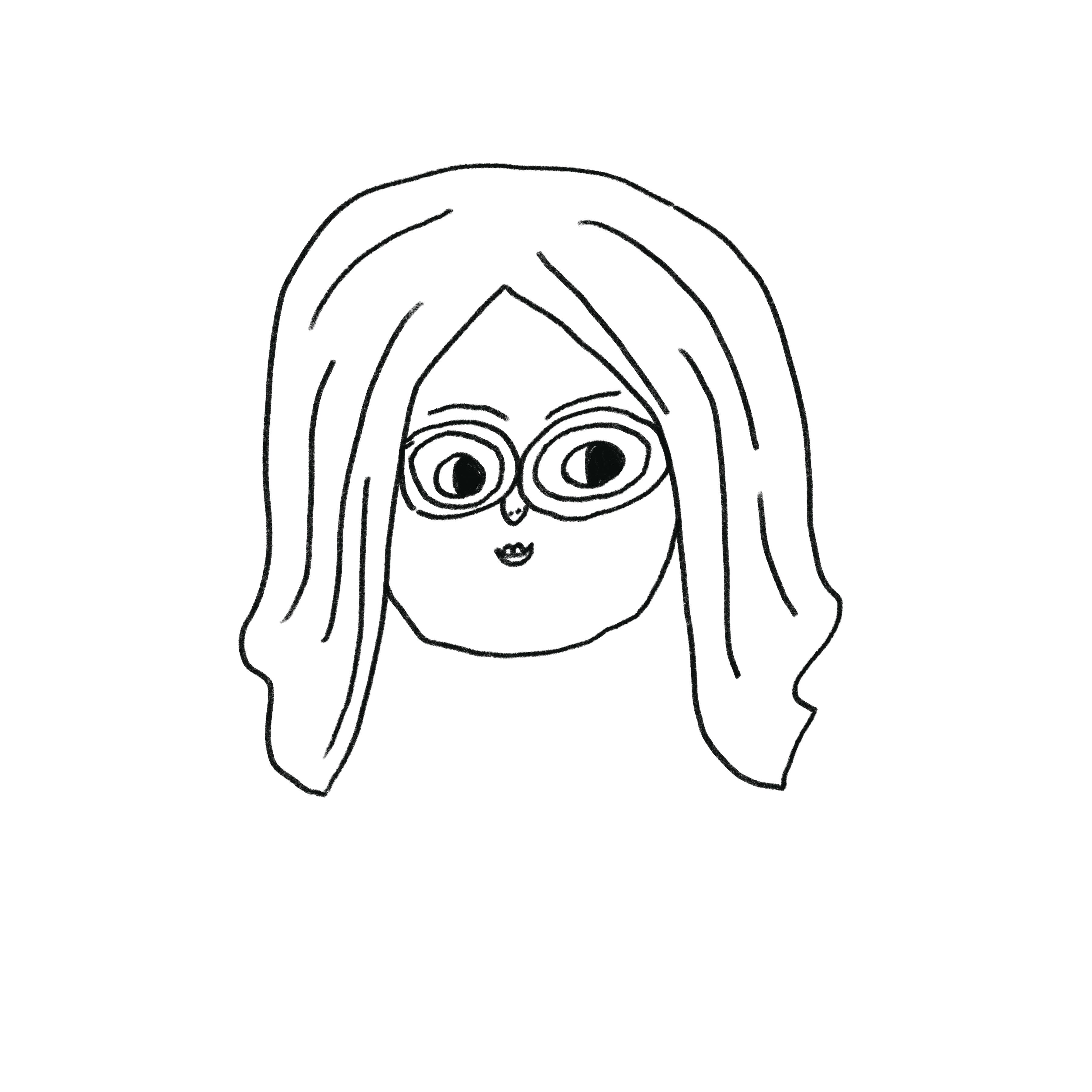 2019, self portrait Monika Forsberg.