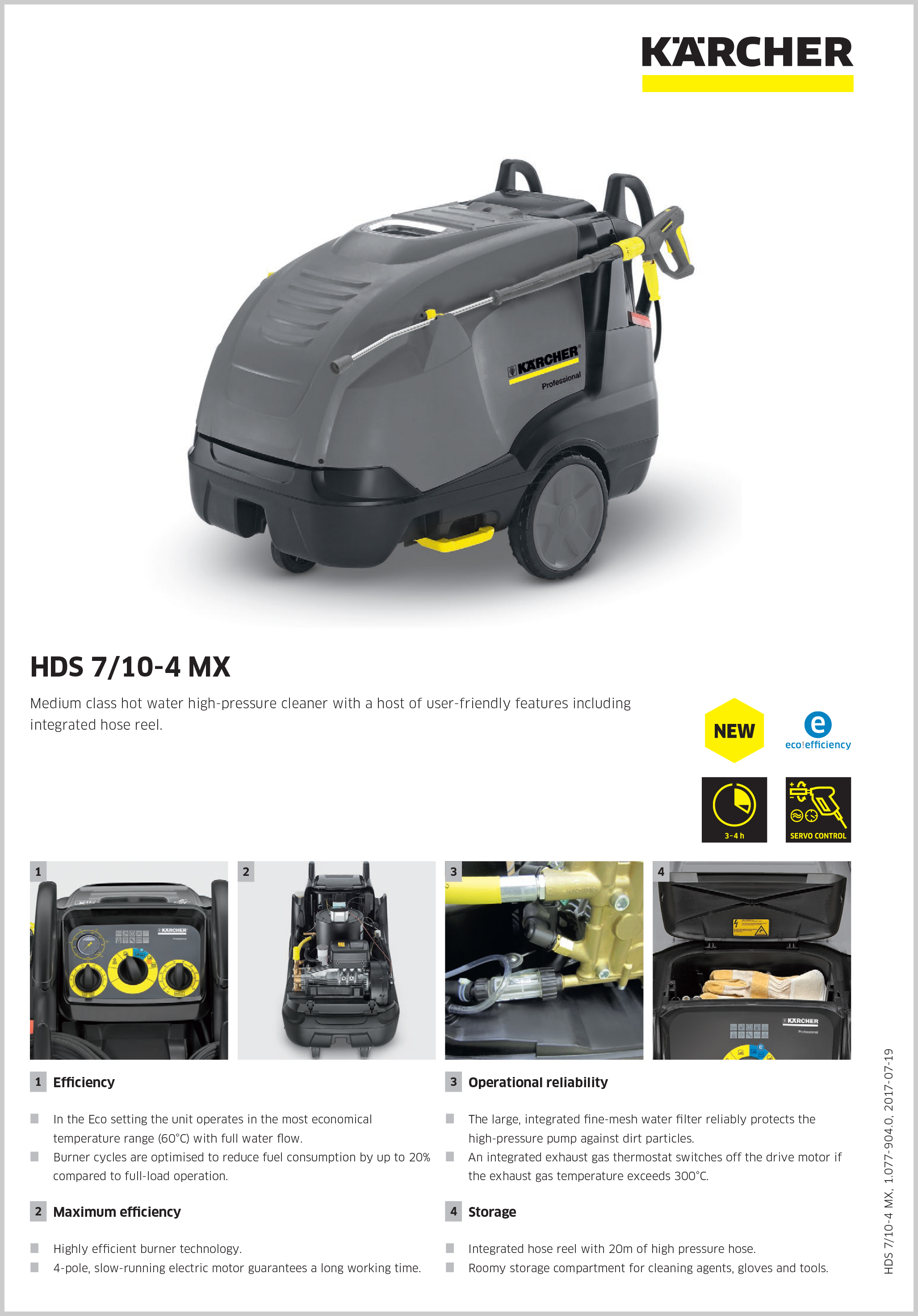 KARCHER HDS 7/10-4 MX Cold, Hot & Steam High Pressure Cleaners 4