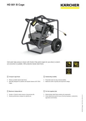KARCHER Combustion Engine HD 801 B Cage Cold Water High