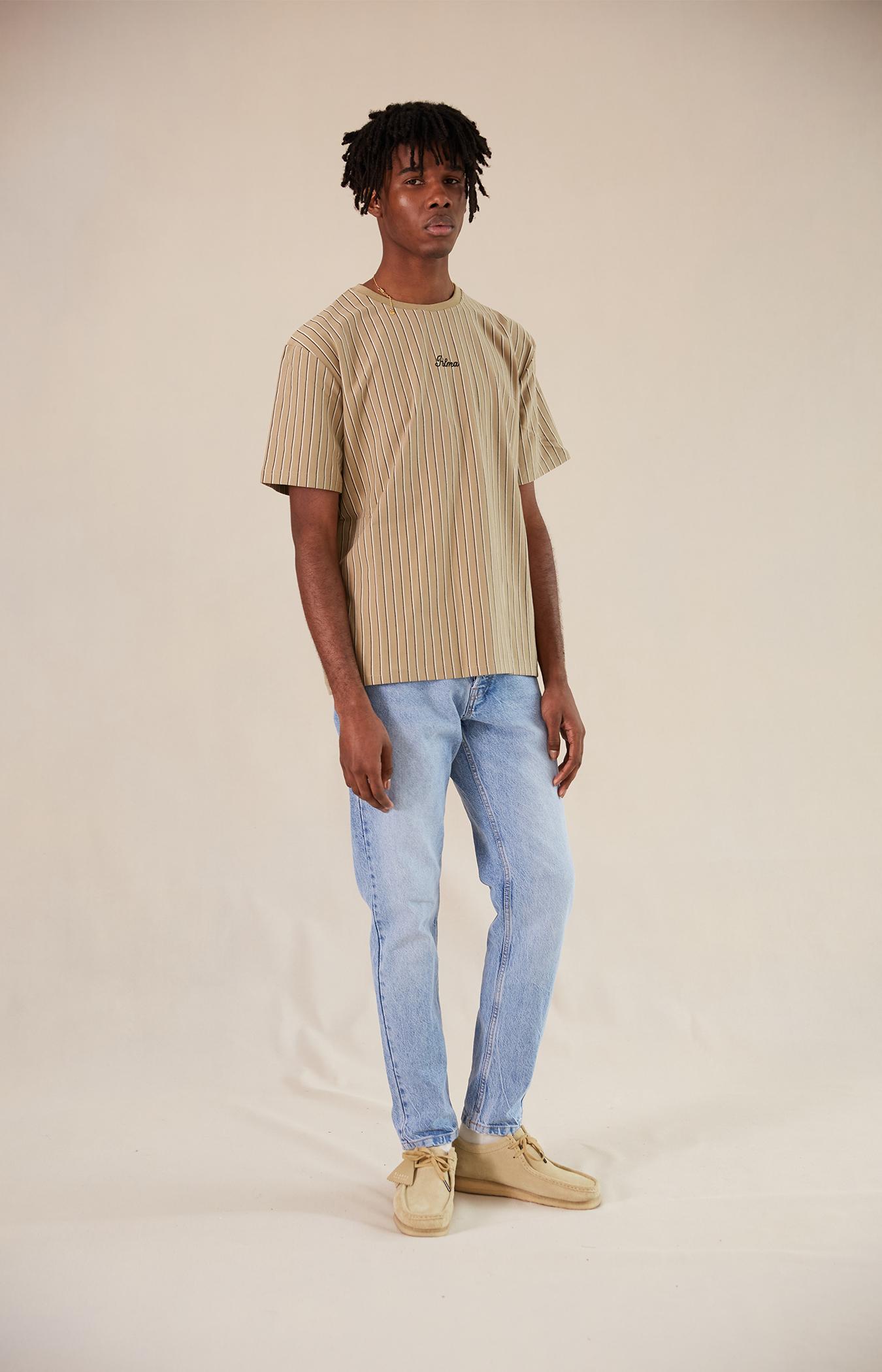 Tan Stripe Hadley T-shirt