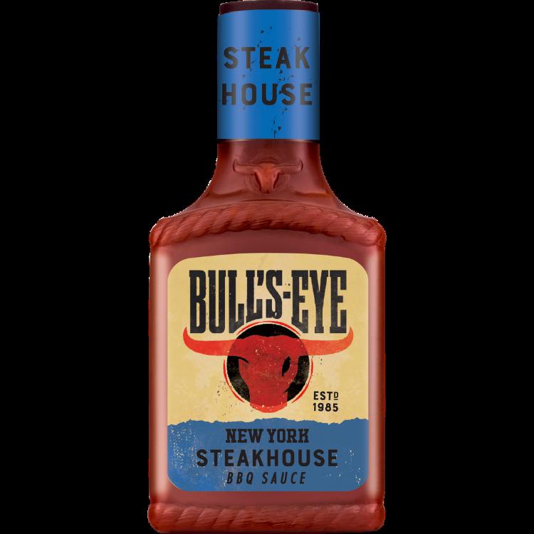 Photograph of 3 x Bull's-Eye BBQ Steakhouse BBQ Sauce 300ml product