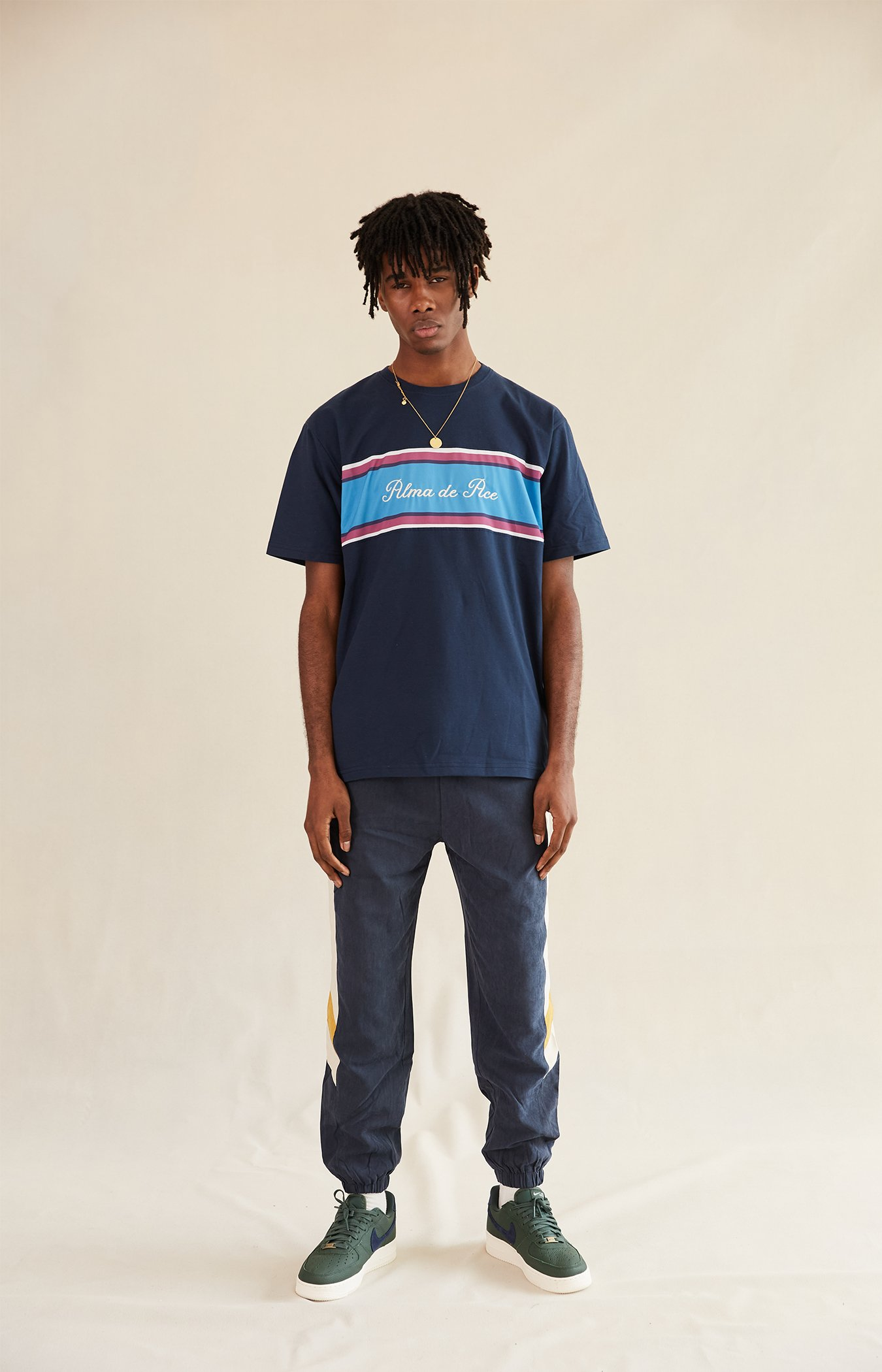 Navy Blue Marino T-shirt