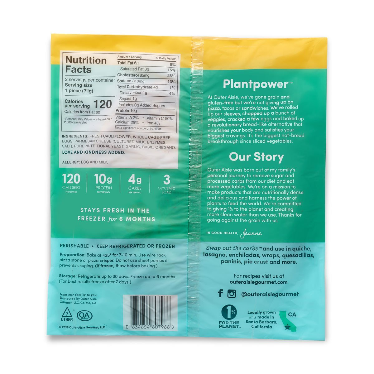 Plantpower™ Cauliflower Pizza Crusts, Italian