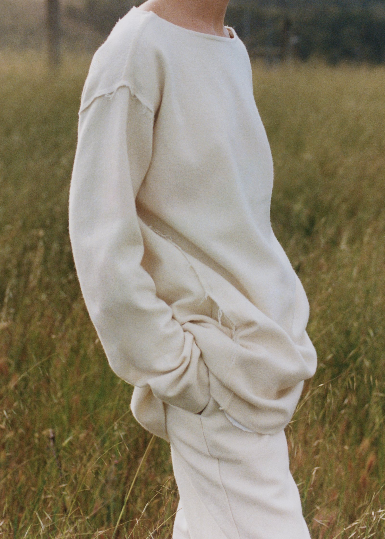 Sculptural Tunic Blouse In Climate Beneficial Wool - Natural - by Zoe Gherter for Co