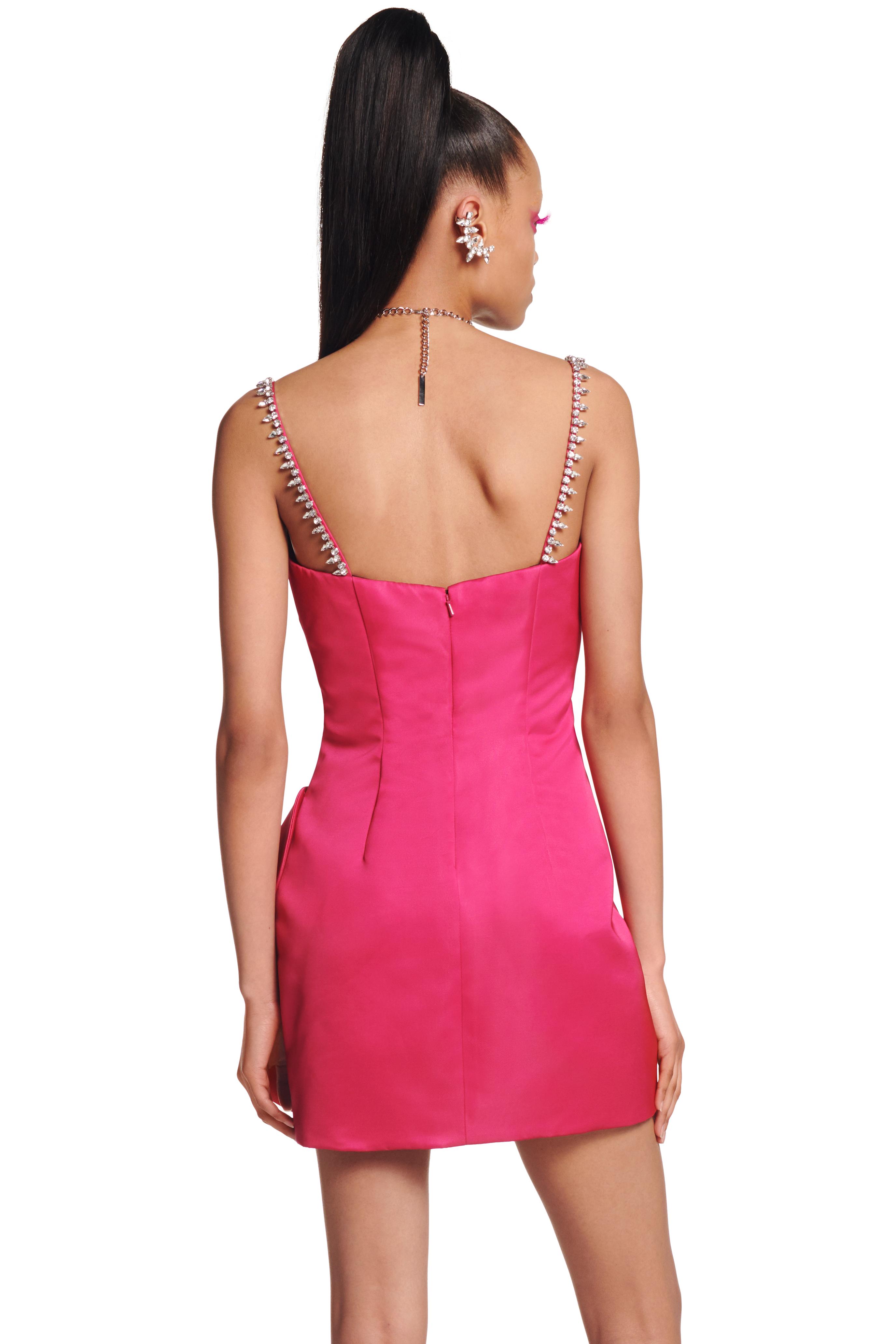 Sweetheart Bow Mini Dress