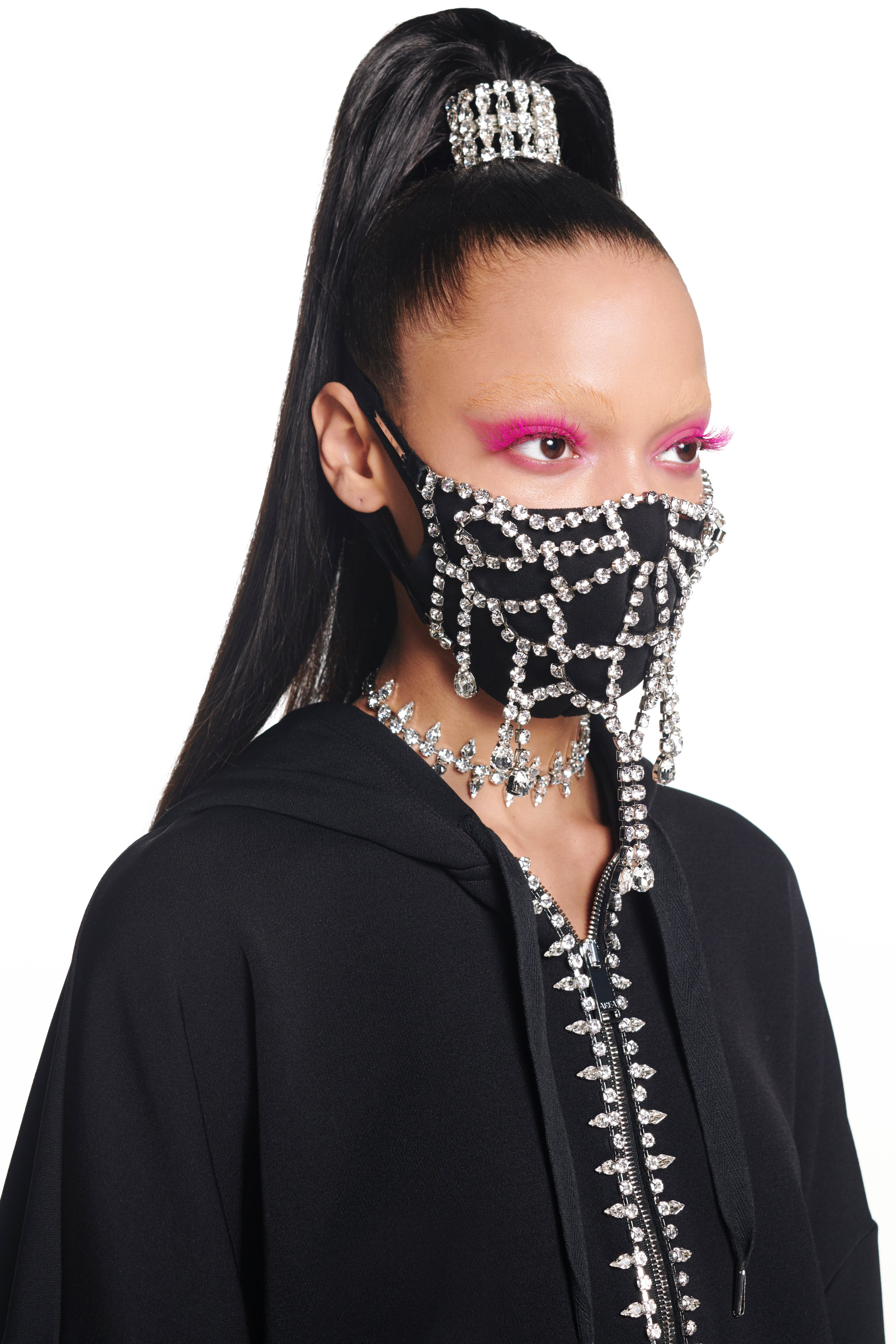 Crystal Crochet Mask