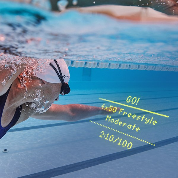 Example of the In-Google display on the Form swim goggles