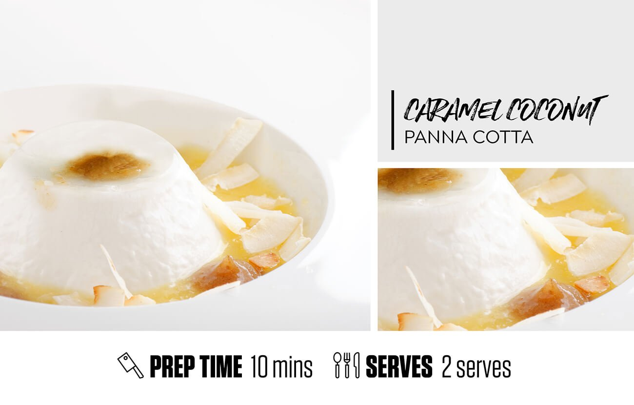 Caramel Coconut Panna Cotta