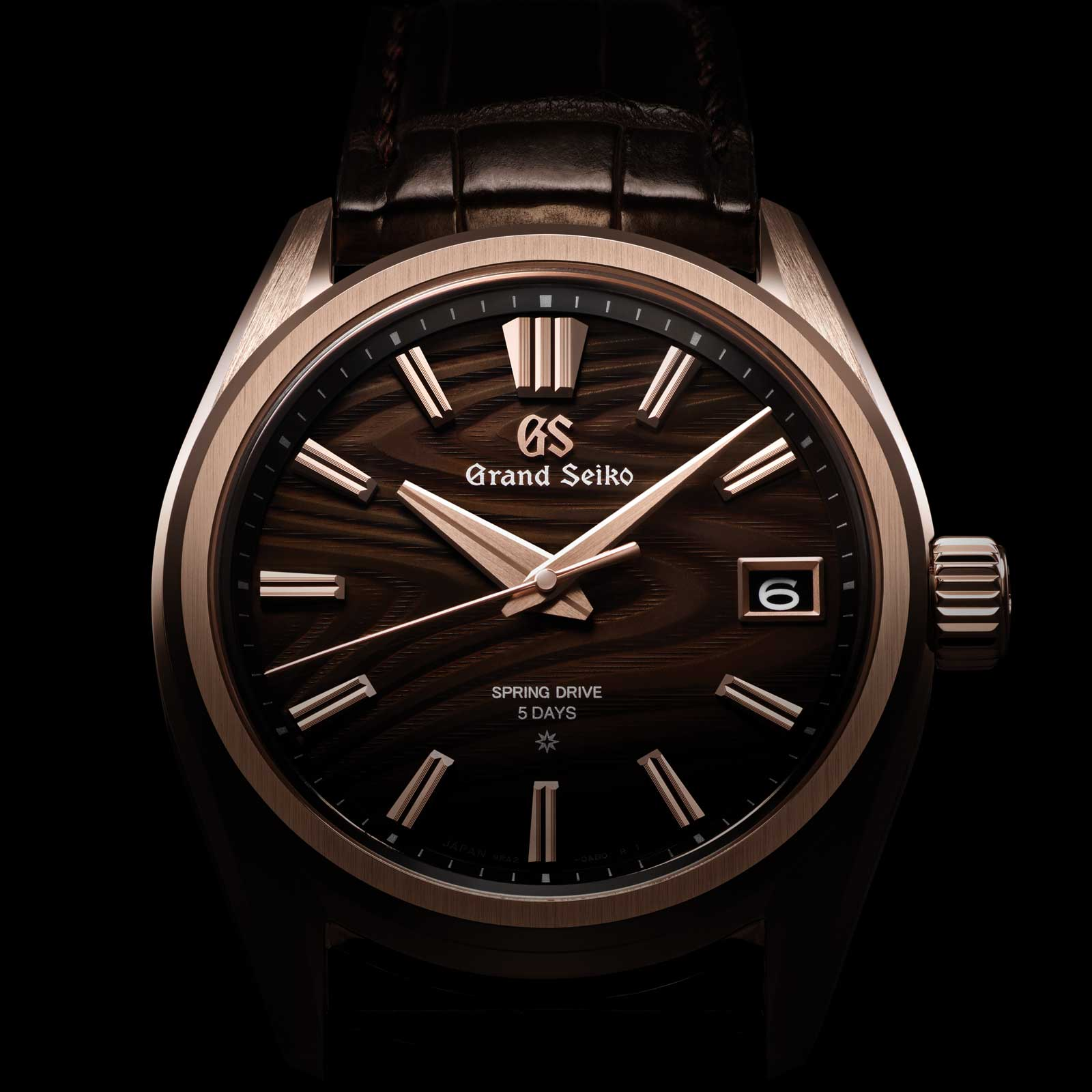 Grand Seiko Spring Drive 5 Days SLGA008 Rose Gold with Annual Growth Tree Rings Dial