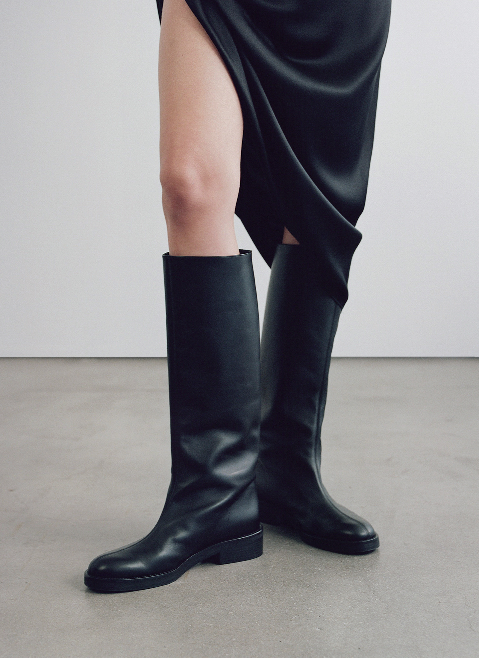 Riding Boot In Smooth Leather - Black - CO