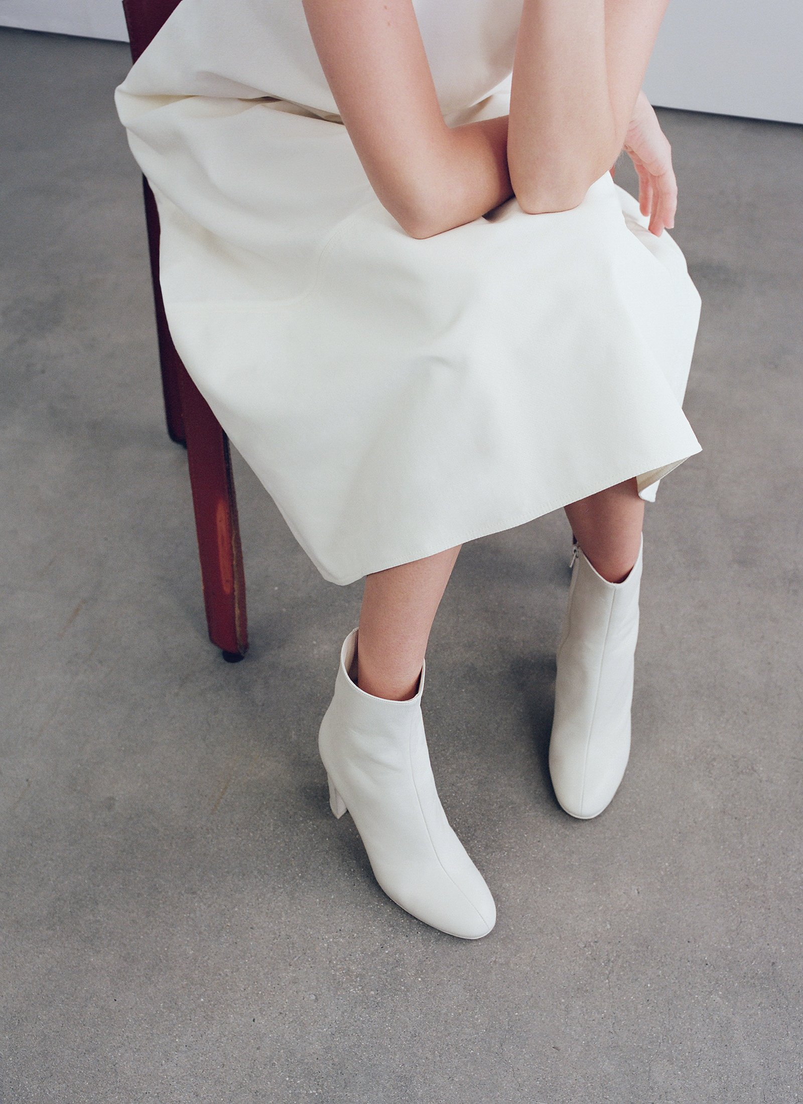 Classic Boot In Smooth Leather - White - CO