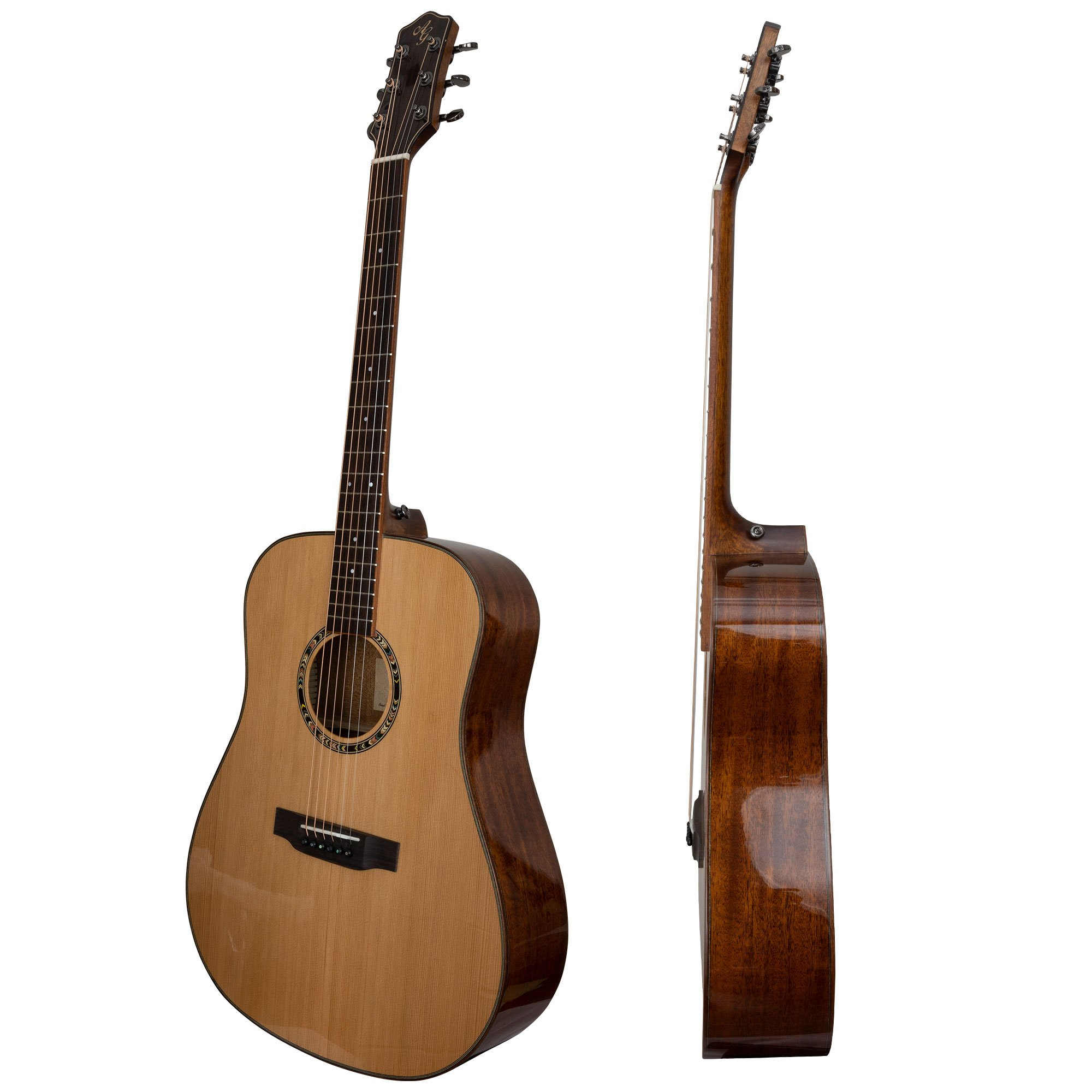 Antonio Giuliani DN-5 Dreadnought Mahogany Acoustic Guitar Outfit in action