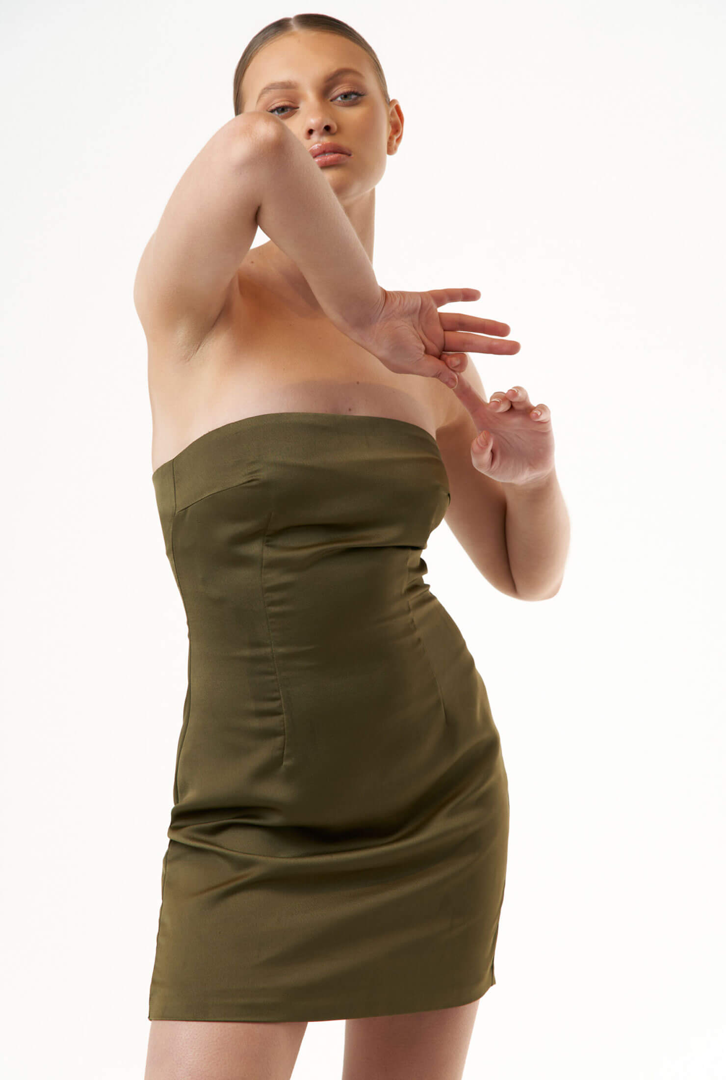 THE ESTHER OLIVE DRESS