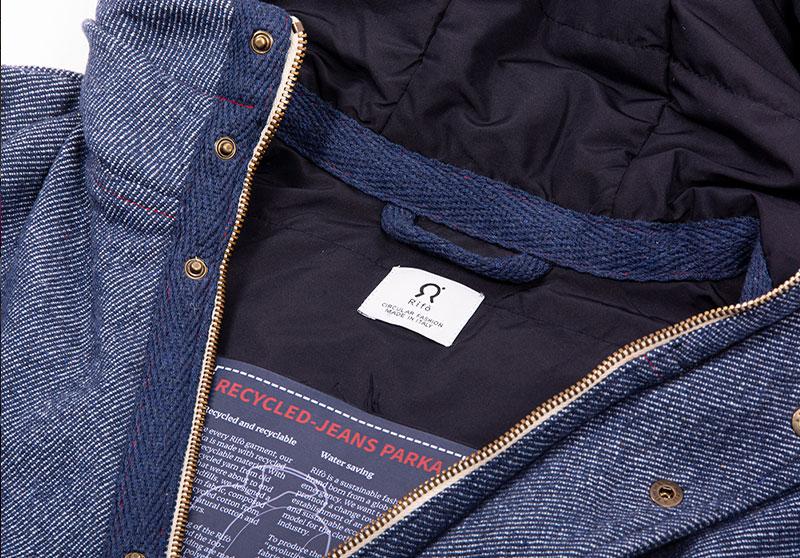 Il parka di jeans rigenerato 4