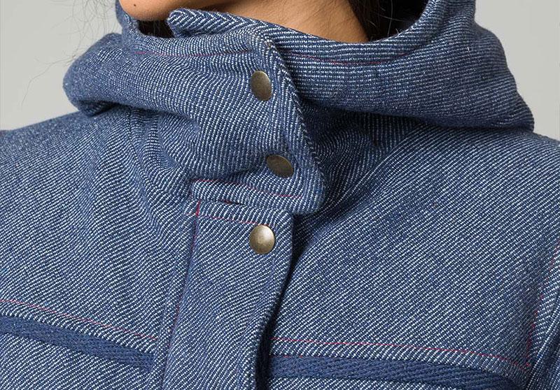 Il parka di jeans rigenerato 11