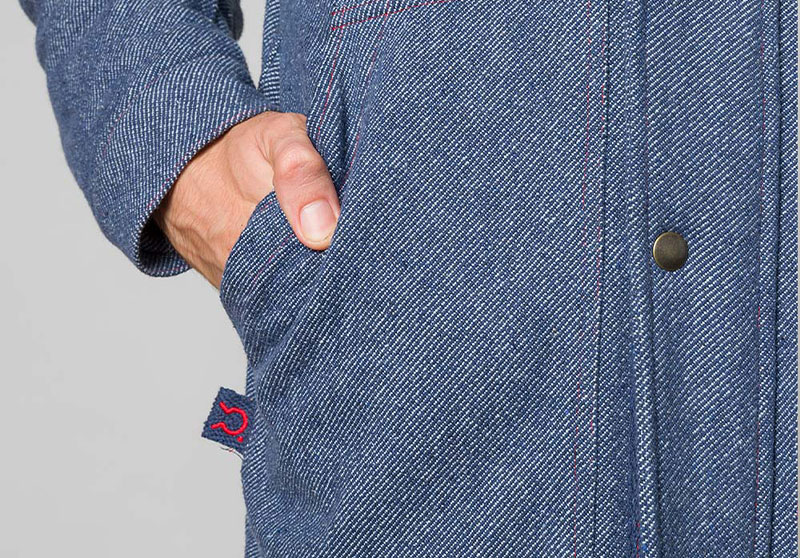 Il parka di jeans rigenerato 13
