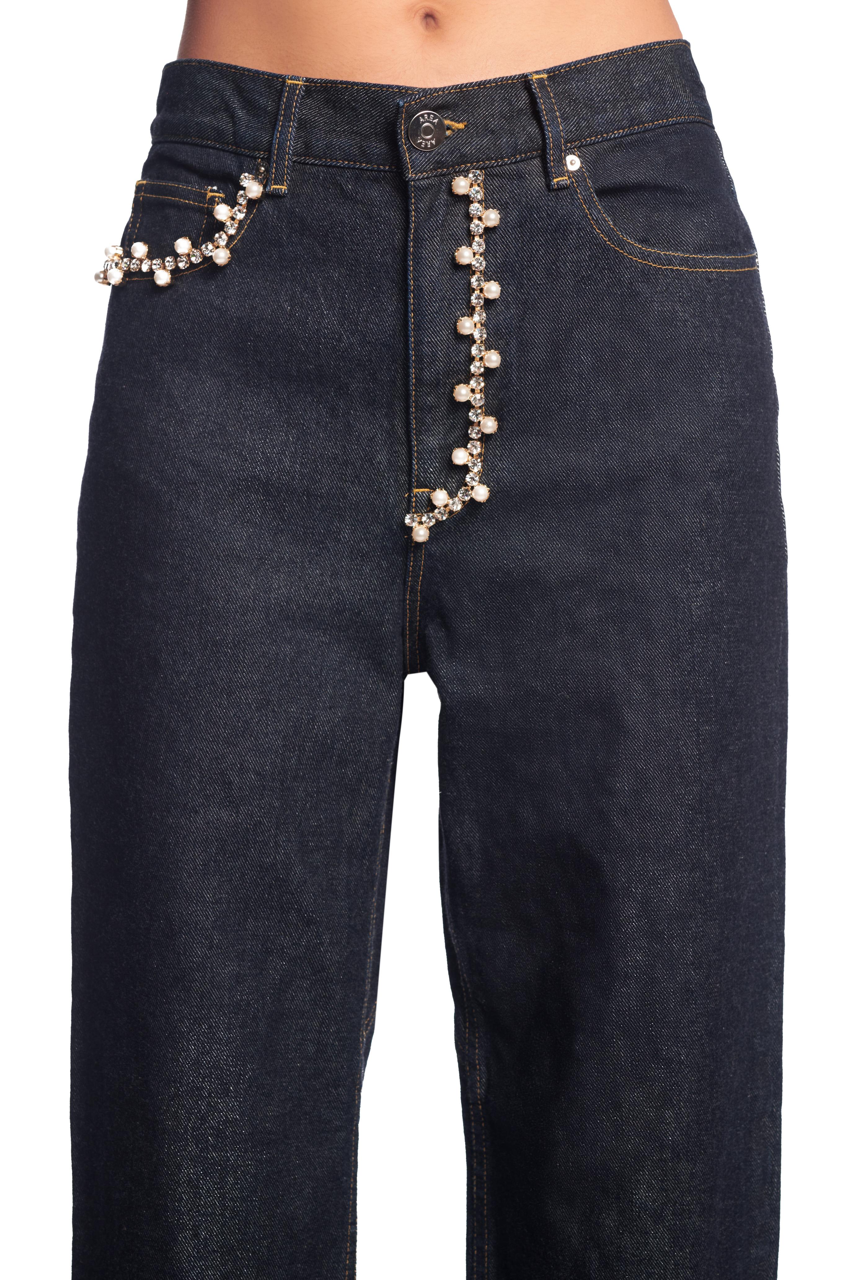 Crystal Pearl Five Pocket Jean