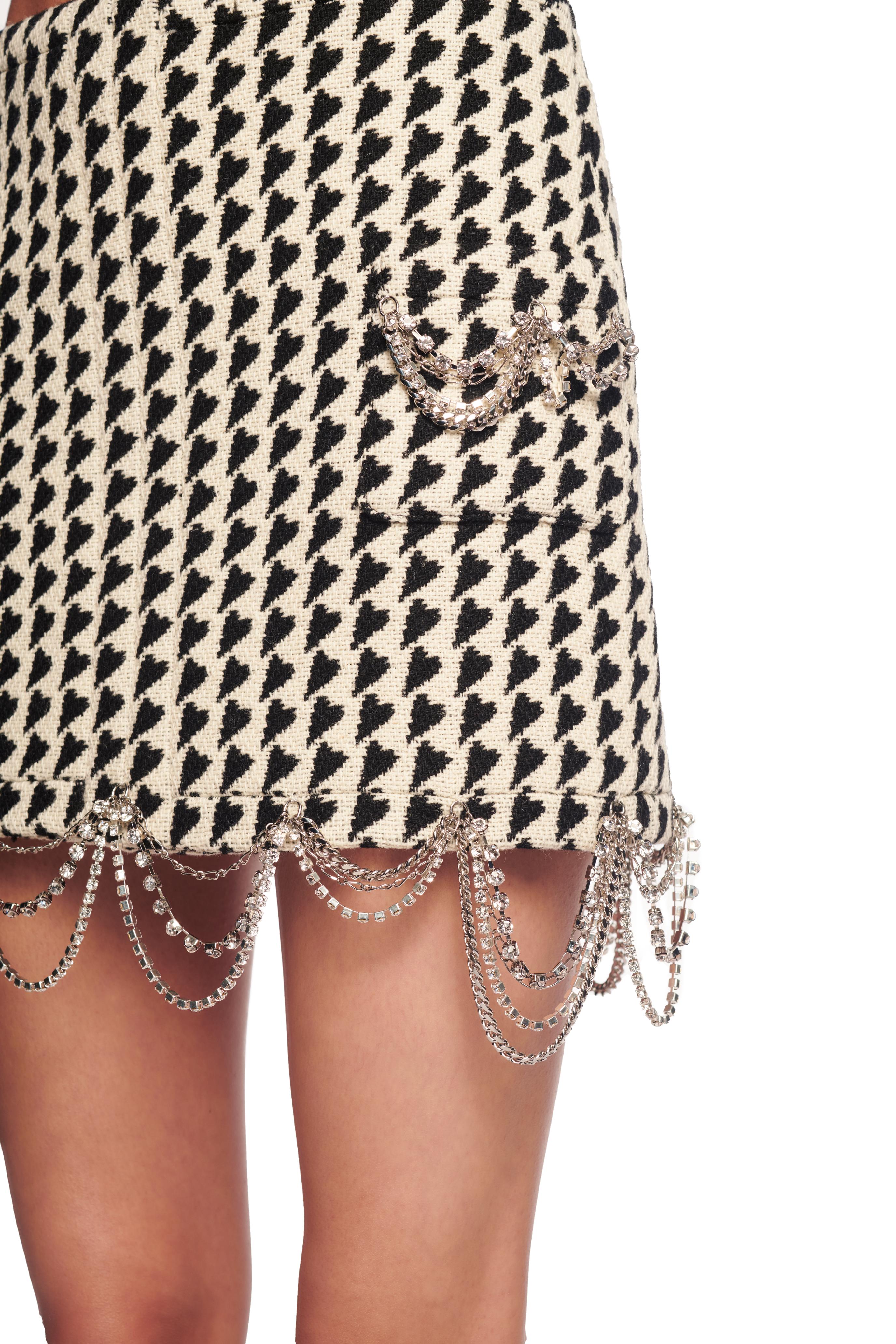 Draped Chain Mini Skirt