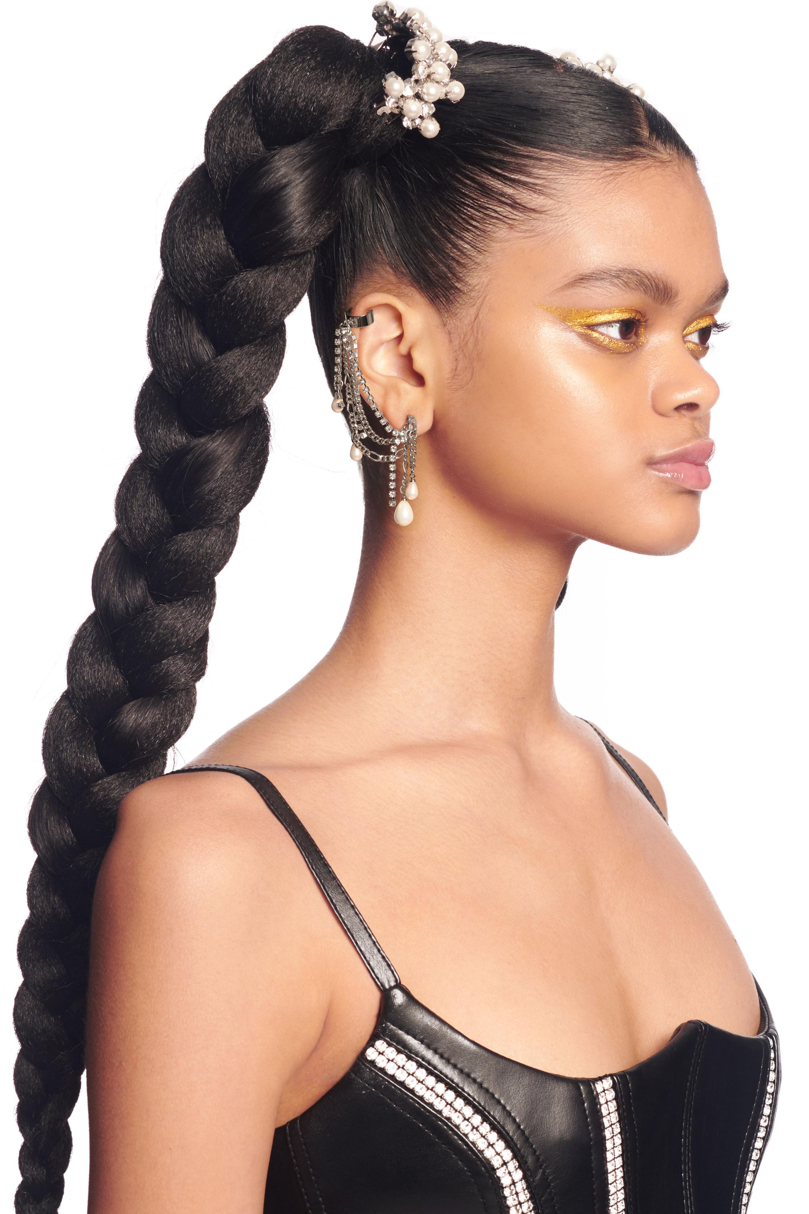 Pearl Chain Ear Cuff