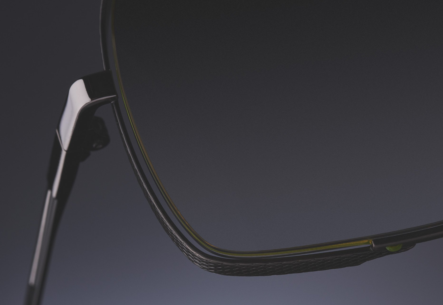 DITA MIDNIGHT SPECIAL FLOATING SIDE LENS RIM WITH NYLOR AND DIAMOND DETAIL