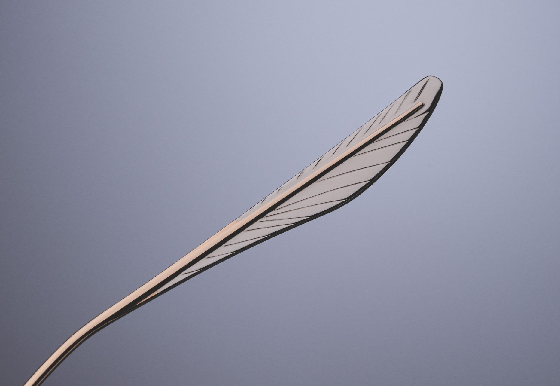 DITA RAVITTE DUAL-COLOR TITANIUM TEMPLE TIP DESIGN DELICATELY ETCHED TO RESEMBLE A FEATHER