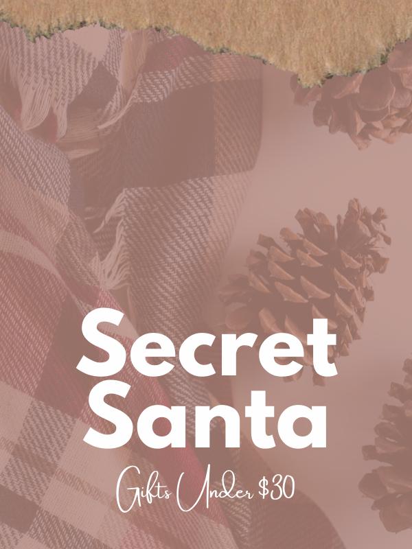 Shop Secret Santa - Gifts Under $30