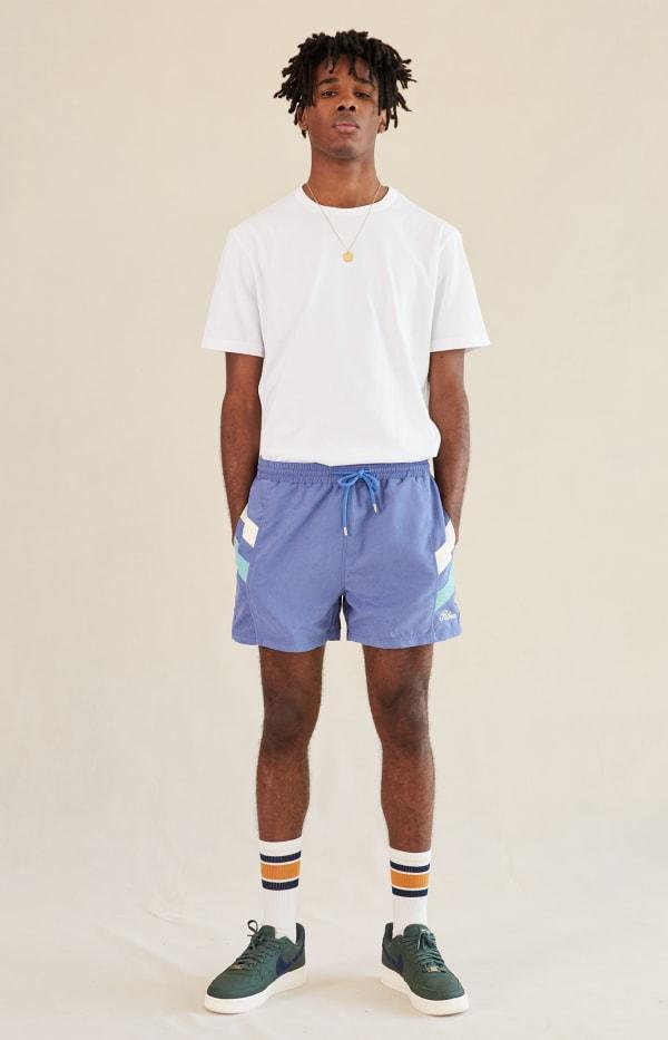 Navy Blue Twin Stripe Shorts