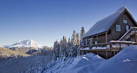 Snow Bowl Hut Winter