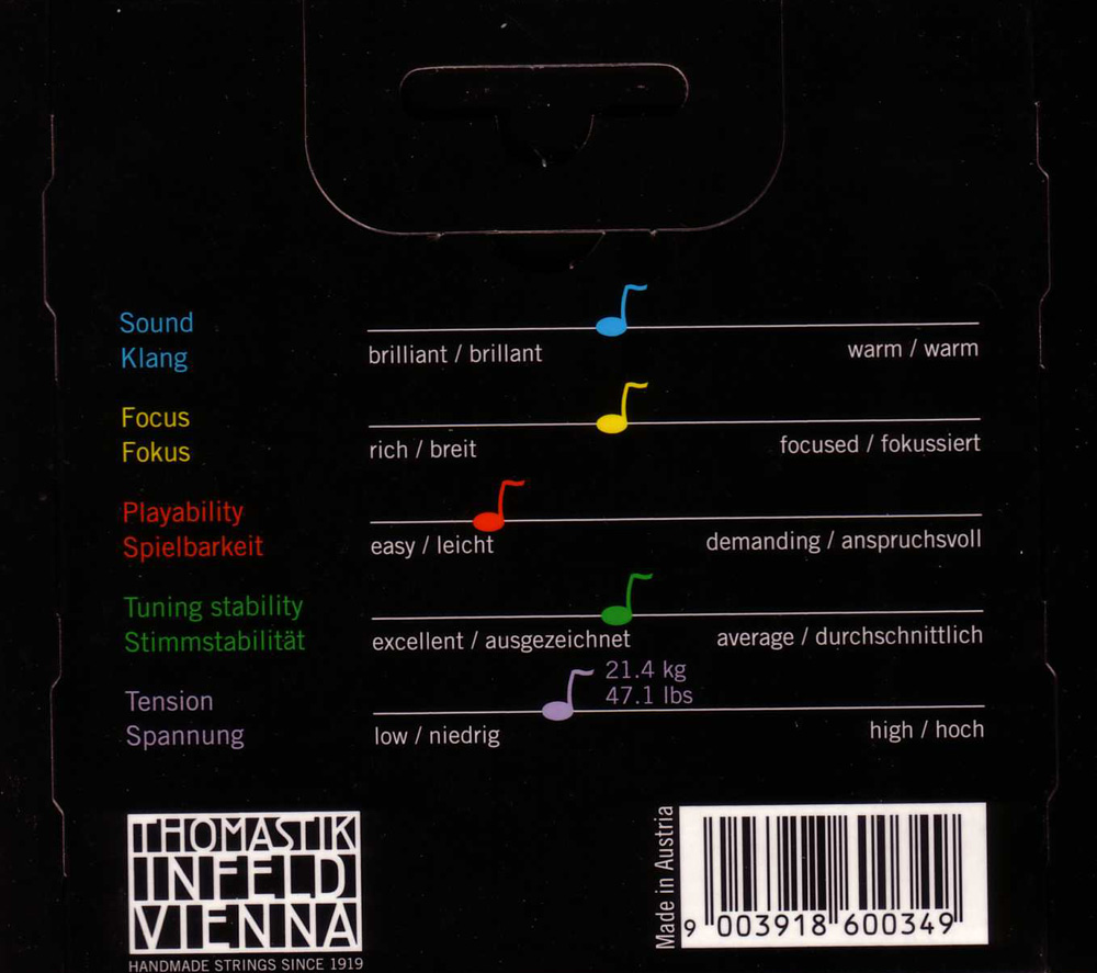 Thomastik-Infeld Dominant Viola String Set in action