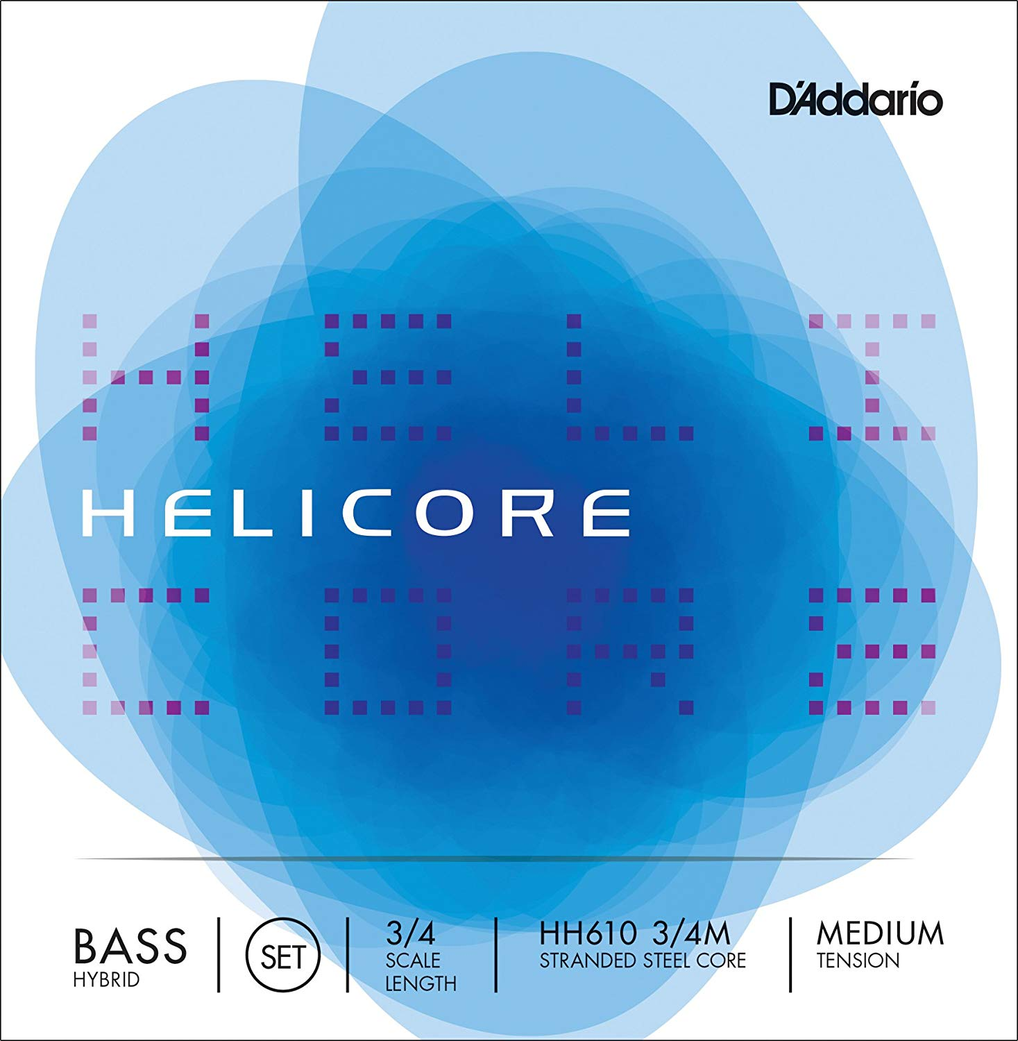 D'Addario Helicore Orchestral Bass String Set in action