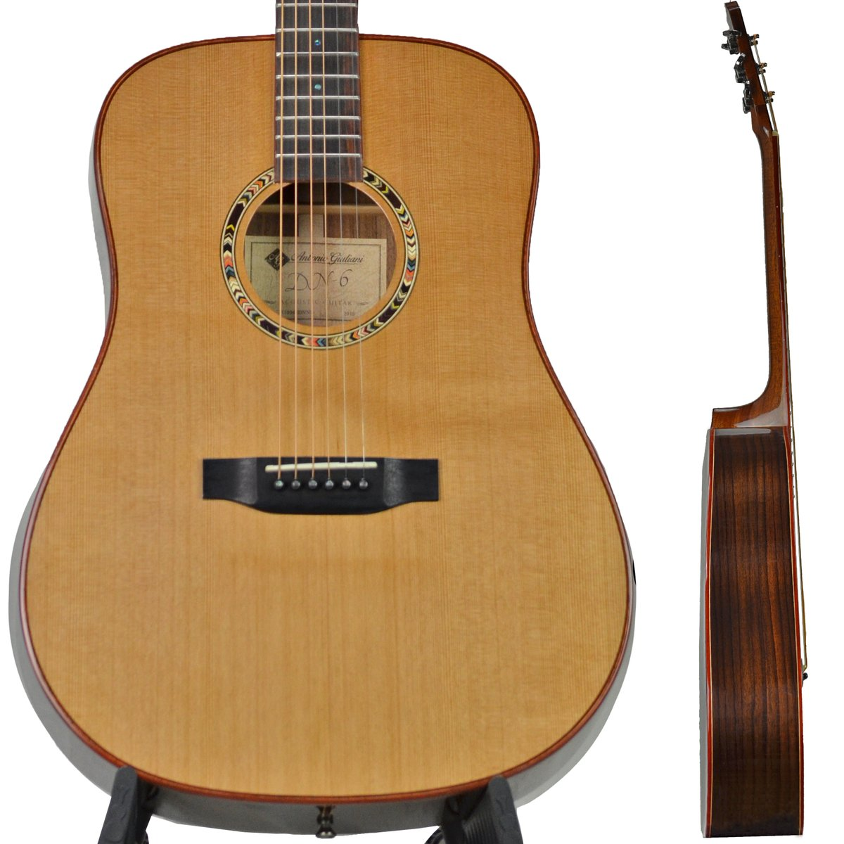 Antonio Giuliani Dreadnaught Rosewood Acoustic Guitar DN-6 Clearance Outfit in action