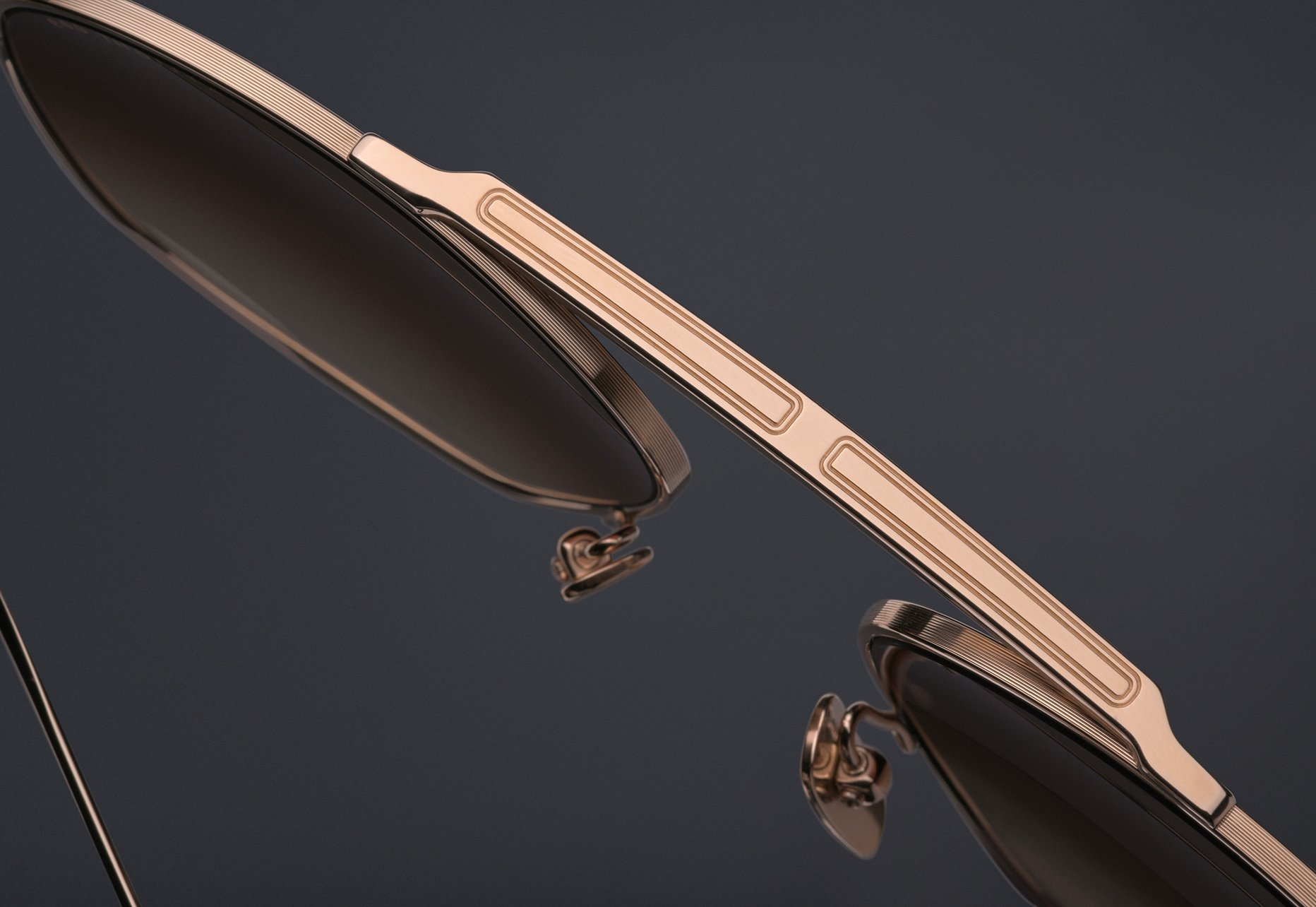 DITA FLIGHT.009 Titanium Brow bar with pressed line detail