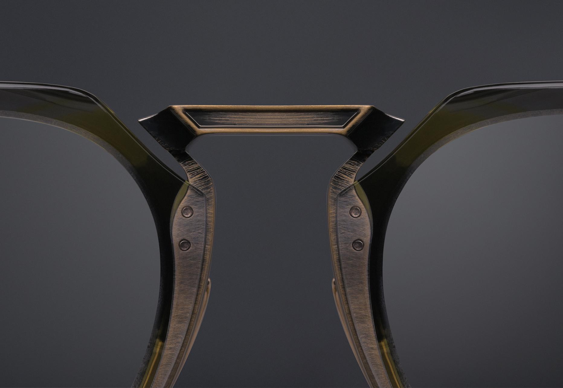 DITA AEGEUS Titanium bridge inlay with nylor detail and pressed recess