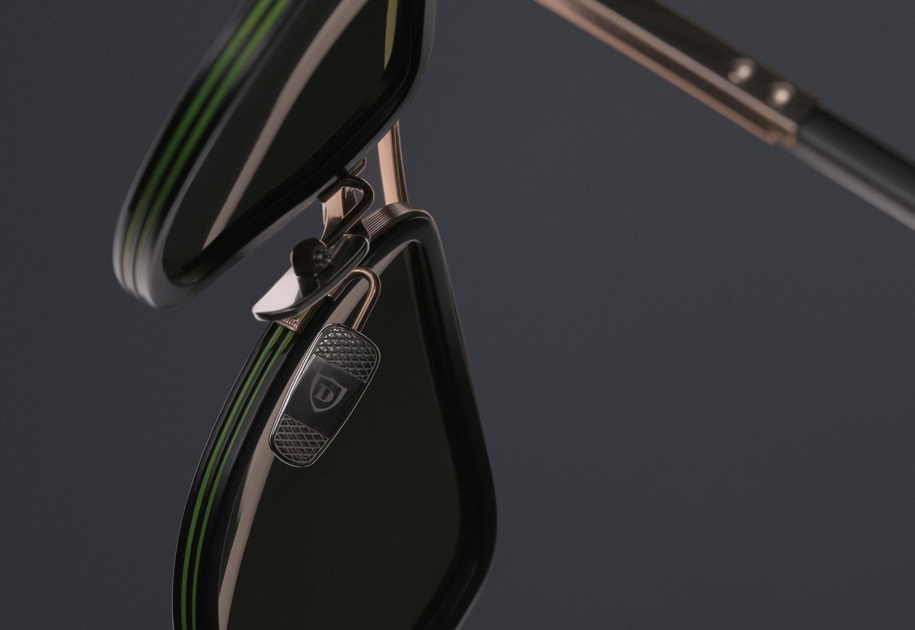DITA MACH-S Titanium nose pads with diamond pressed detail