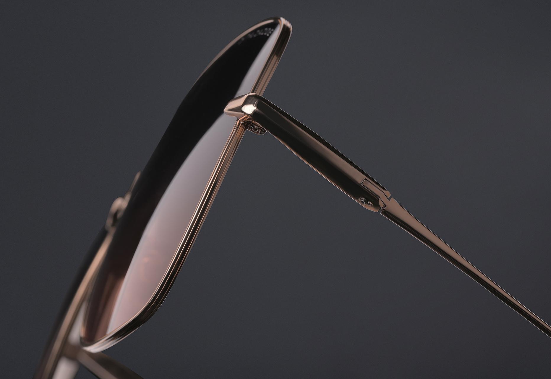 DITA ZAZOE Titanium lens rim with double line pressed detail