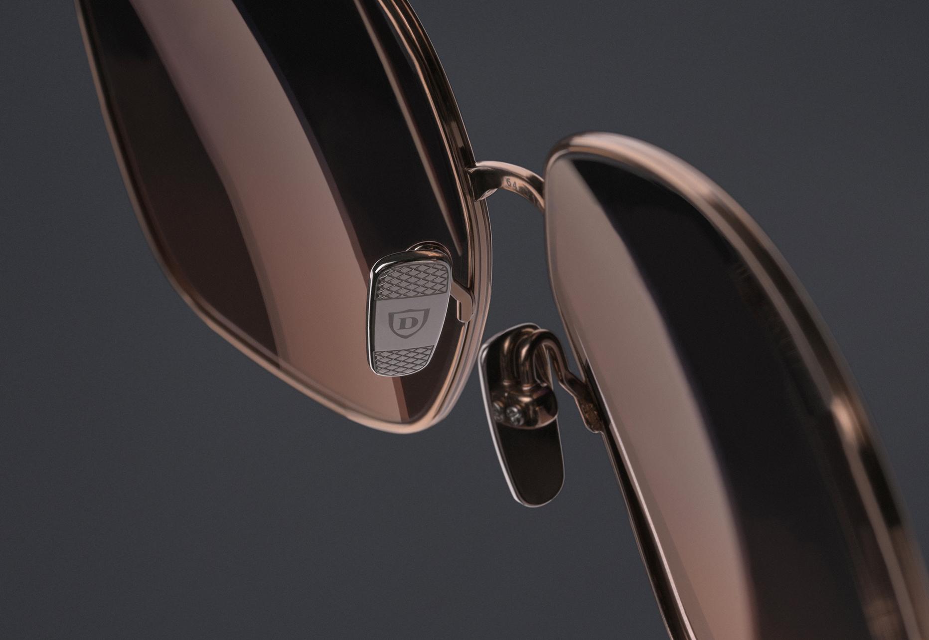 DITA ZAZOE Custom titanium nose pads with diamond pressed detail