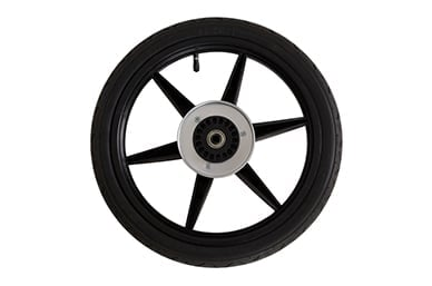 """active use with 16"""" true air filled rear wheel tyres that have a bias ply construction for more robust play are included"""