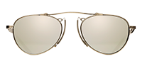 Matsuda M3036 a metal aviator sunglass in brushed silver with silver mirror lenses