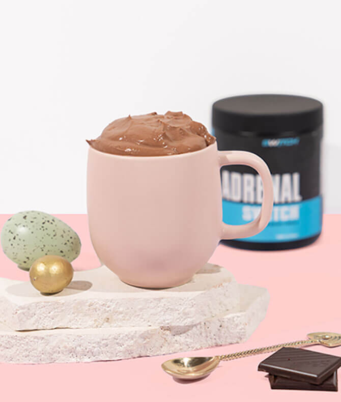 RECIPE - ADRENAL HOT CHOCOLATE WITH WHIPPED CHOCOLATE TOPPING