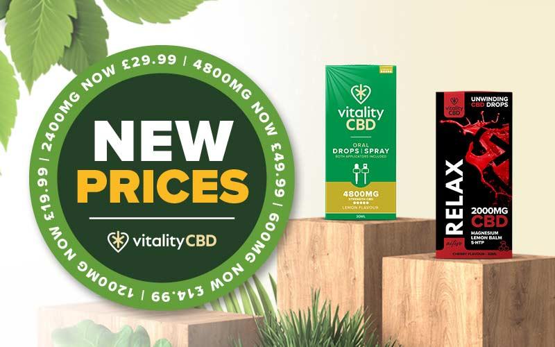 Vitality CBD New Prices Announced
