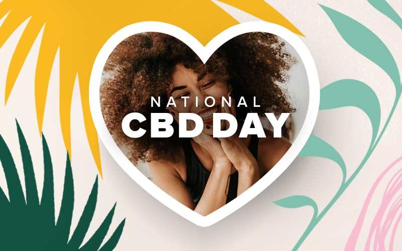 Woman celebrating CBD Day