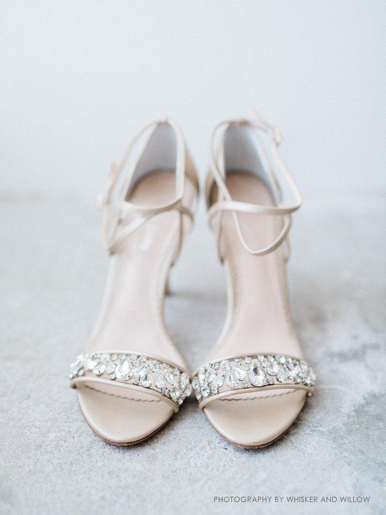 e3ab4d6c6a6 Filipa Glamorous Jewel Nude Evening Shoes | Bella Belle Shoes